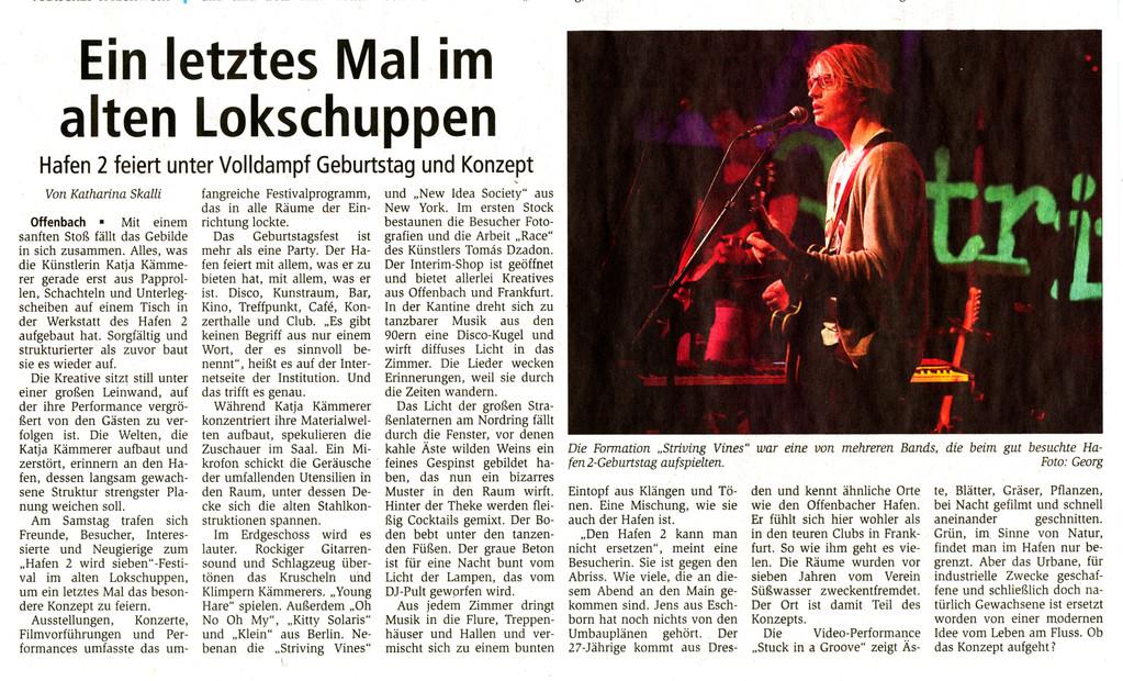 Offenbach Post, 21. Februar 2011