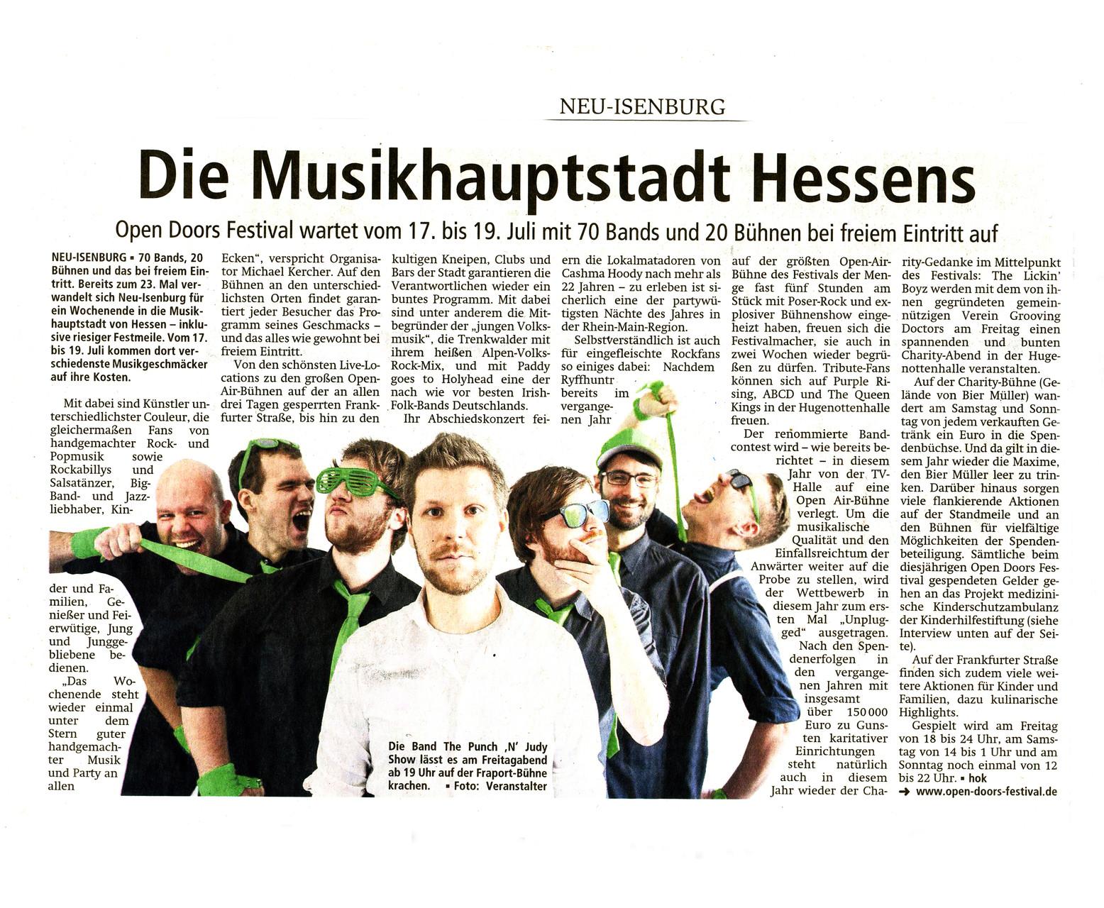 Offenbach Post, 3. Juli 2015