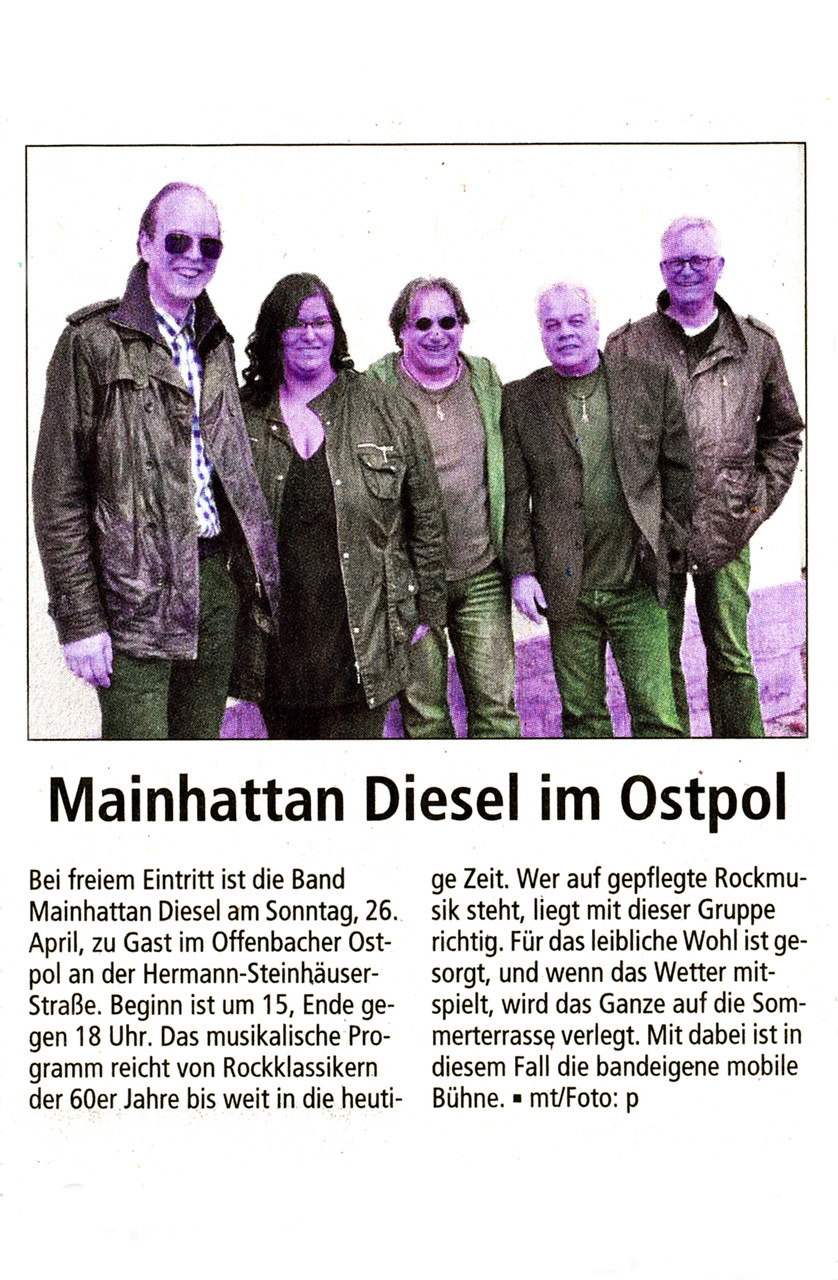 Offenbach Post, 22. April 2015