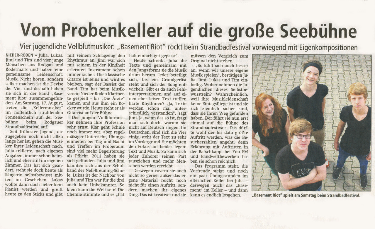 Offenbach Post, 13. August 2013