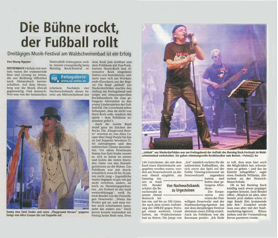 Offenbach Post, 11. Juni 2012