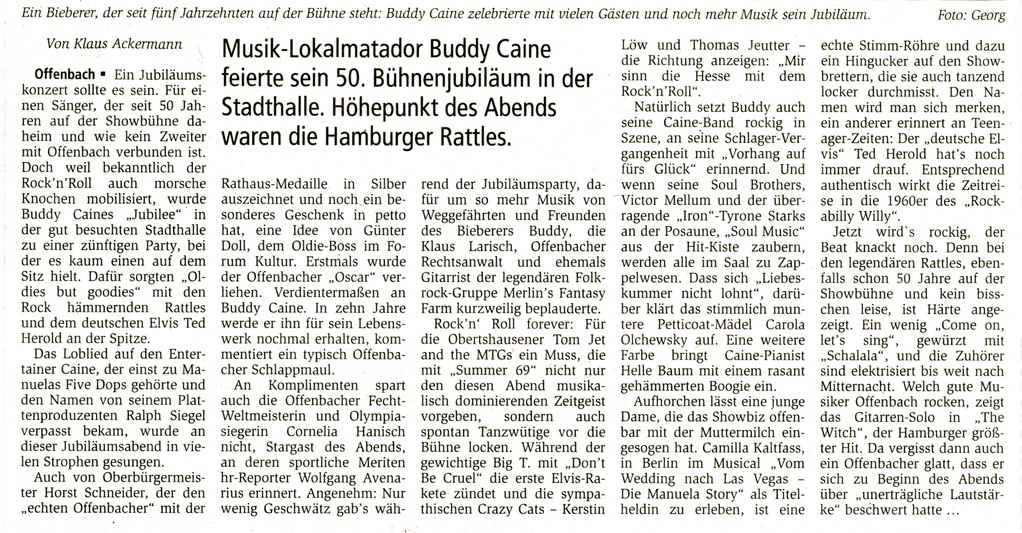 Artikel Offenbach Post, 29. November 2010