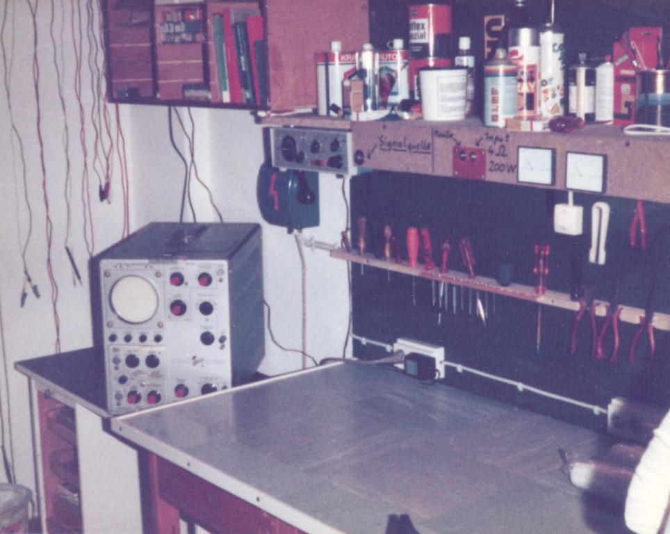 Die Werkstatt im Hinterzimmer