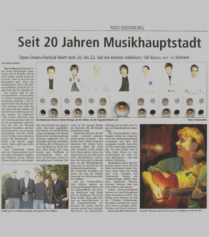 Artikel Offenbach Post, 25. Mai 2012