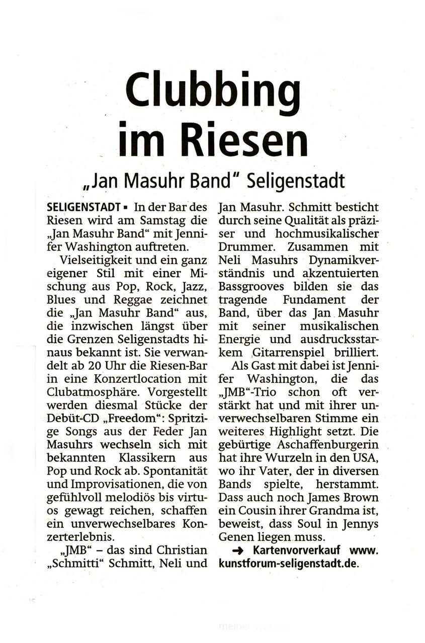 Offenbach Post, 27. September 2014
