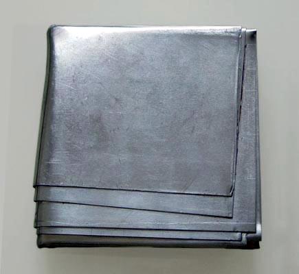 """o.T."", 1999/2006, 13x13x3cm, Aluminium"