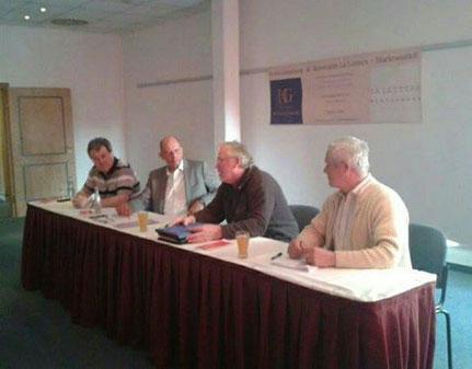 v.l.n.r. Frank Meißner, Wolfgang Tiefensee, Winfried Busch und Rainer Kirsche