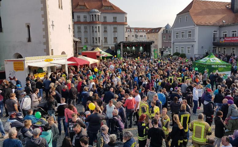 Radio PSR Sachsenmeisterschaft 2019 auf dem Marktplatz in Markranstädt.