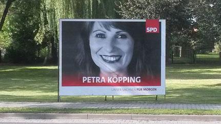 Wahlplakat von Petra Köpping