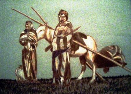 Pferd und Figuren
