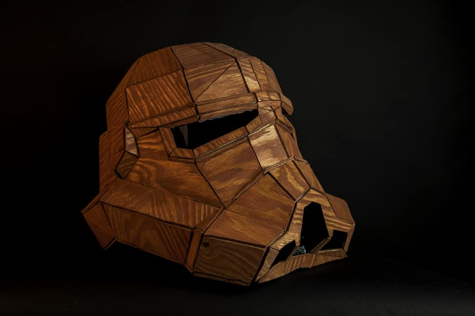 Stormtrooper Helmet - made of wood - 100% DIY