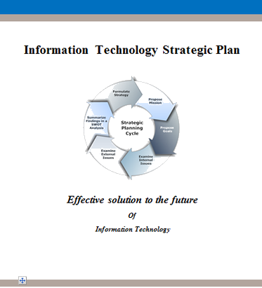 informaiton tehcnology strategic plan - Business Strategy