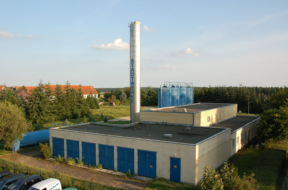 Das Wärmewerk in Waren, Foto: dpa.