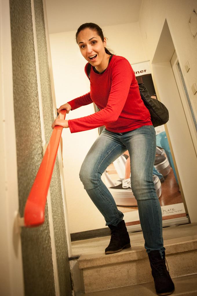 spätestens nach der ersten Treppenstufe weiß man: Ja ich habe trainiert! :-)