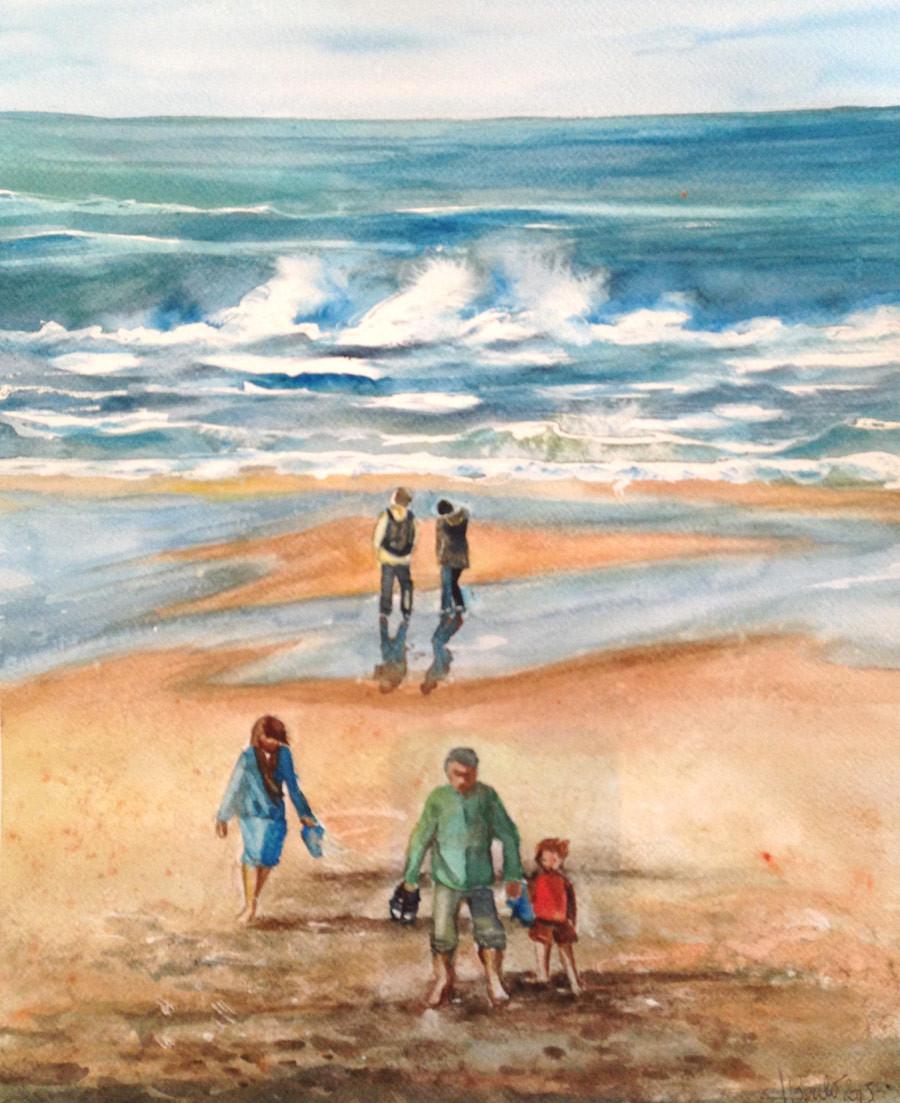 la plage à Lacanau