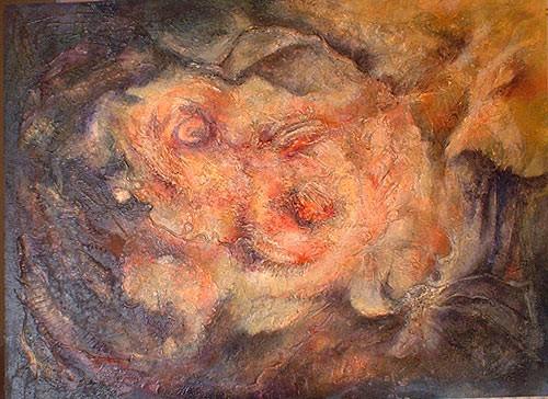 matière 2 - peinture contemporaine de Sylvie Boulet-disponible, encadré