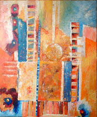 Vacances, peinture contemporaine de Sylvie Boulet