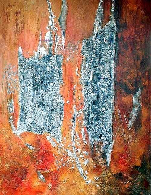48 ième jour  - peinture contemporaine de Sylvie Boulet