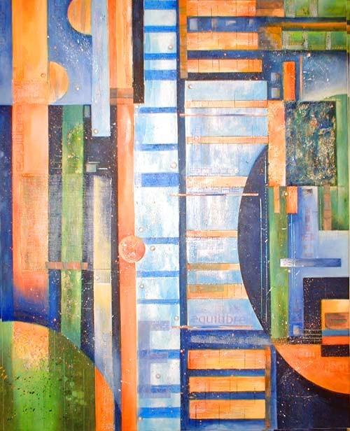 équilibre - peinture contemporaine de Sylvie Boulet -disponible