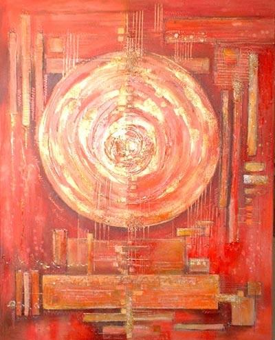 usure du temps- peinture contemporaine de Sylvie Boulet