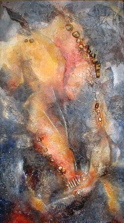 duo 2 - peinture contemporaine de Sylvie Boulet