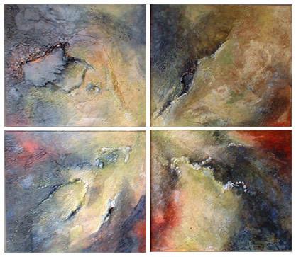 fractales - peinture contemporaine de Sylvie Boulet