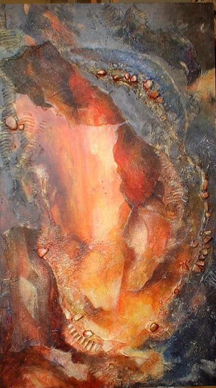 duo 1- peinture contemporaine de Sylvie Boulet