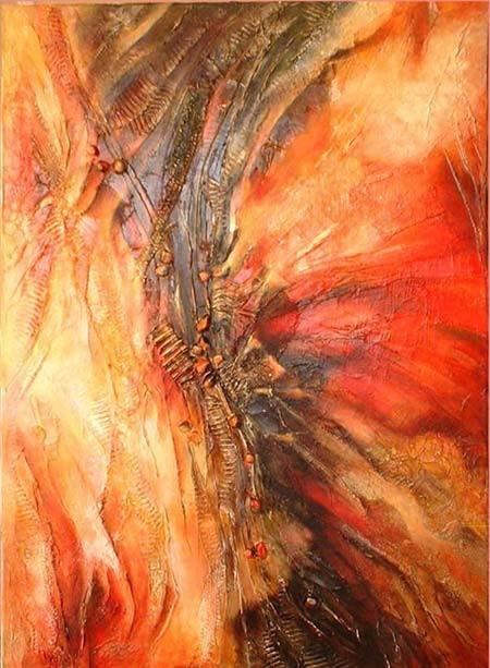 avant l'orage - peinture contemporaine de Sylvie Boulet