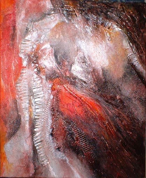 Choc - peinture contemporaine de Sylvie Boulet
