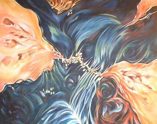 matières - peinture contemporaine de Sylvie Boulet -disponible
