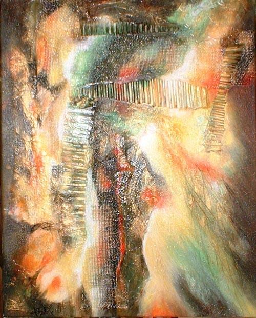 Nu déstructuré - peinture contemporaine de Sylvie Boulet