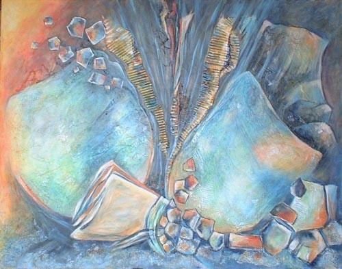 Turquoise - peinture contemporaine de Sylvie Boulet