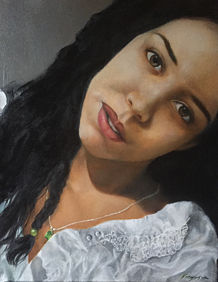 Livia - oil on canvas - 20x16""