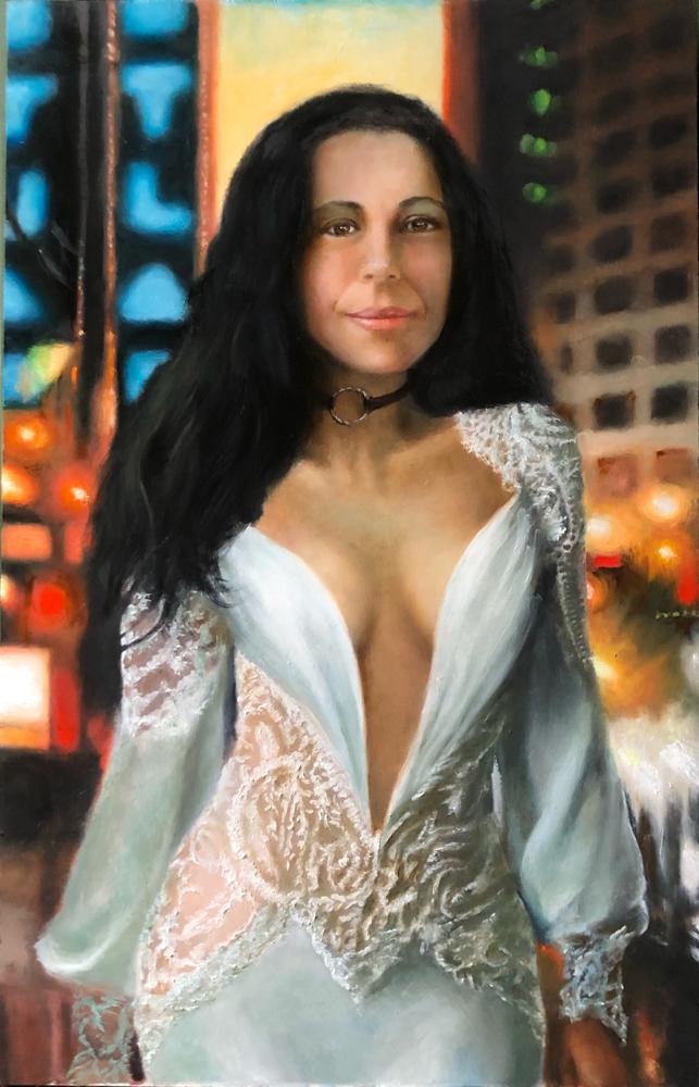 Anna - Oil on panel