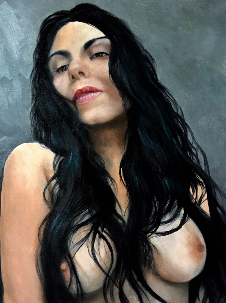 Maria - oil on canvas 20x16""