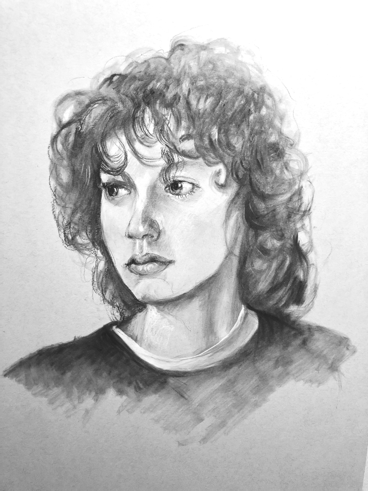 Samuel - charcoal on paper