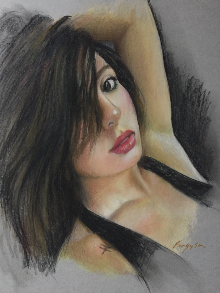 Leti Cie - Pastel on toned paper