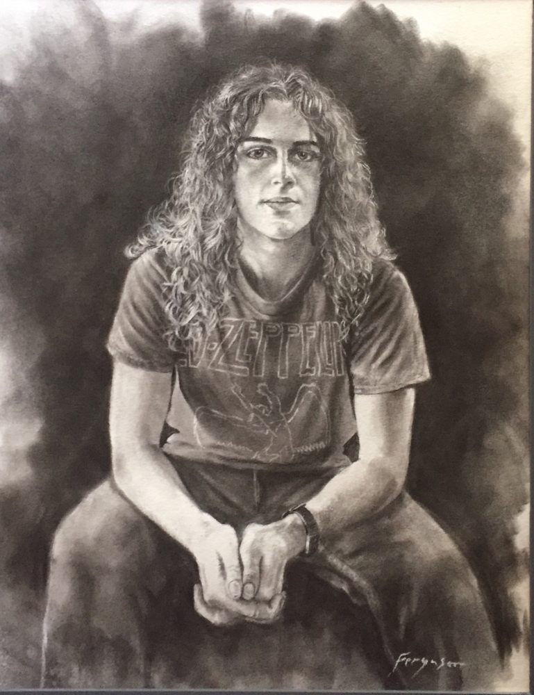 Devin - charcoal on paper