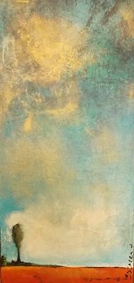 Paysage1401, acrylique - 90 cm x 40 cm - Tous droits reserves- Sylvain Demers 2014 - VENDU