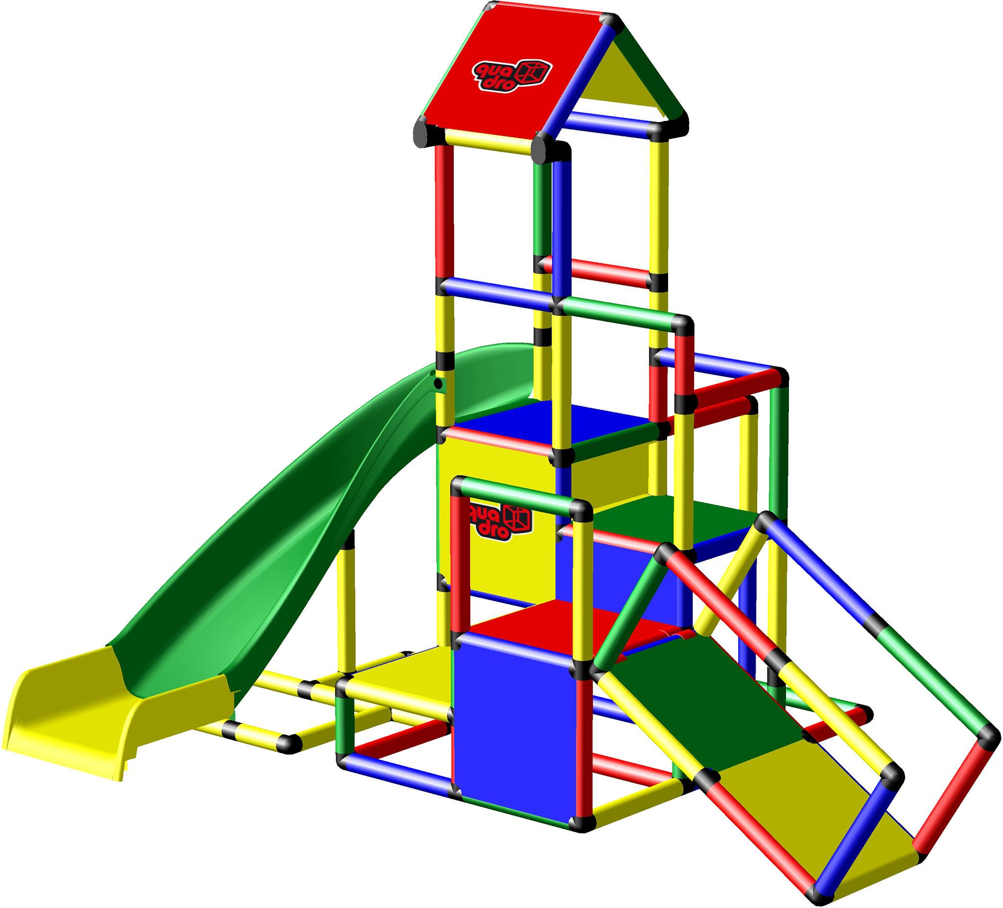 Kletterpyramide + Upgrade Kit + Bogenrutsche