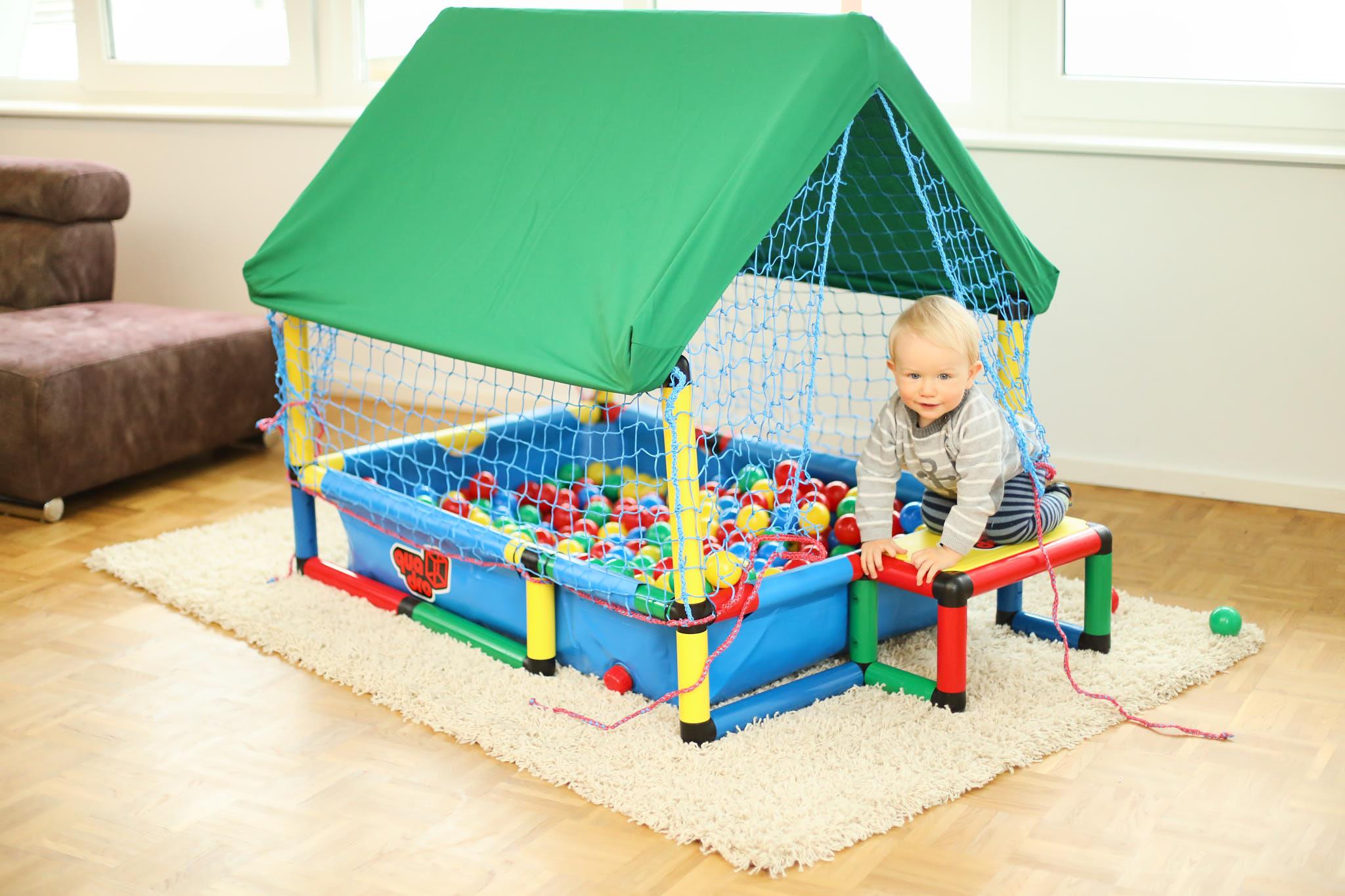 Klettergerüst Baby Holz : Baby ballcage quadro der grossbaukasten