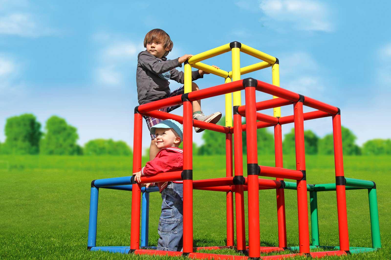 Klettergerüst Zum Stecken : Kletterpyramide quadro der grossbaukasten