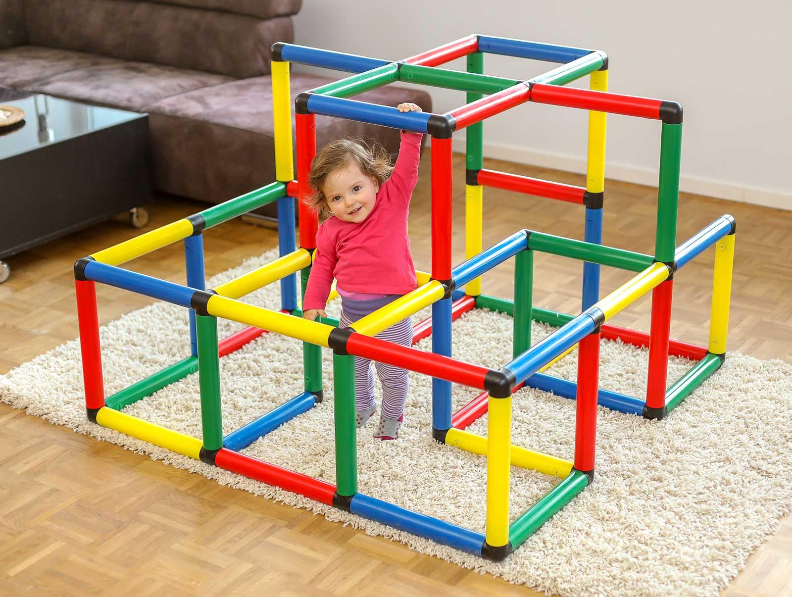 Klettergerüst Plastik Stecksystem : Kletterpyramide quadro der grossbaukasten