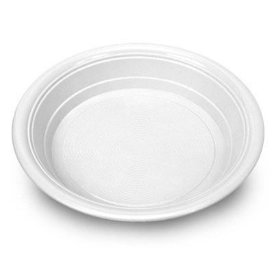 PIATTO FONDO PESANTE - Piatto monouso bianco, dm.220, sagomato