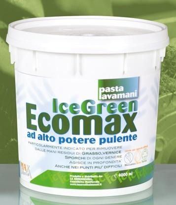 PASTA LAVAMANI ICE GREEN - Verde, di alta qualità.Elevato potere detergente e sgrassante.Barattolo da 4 kg.