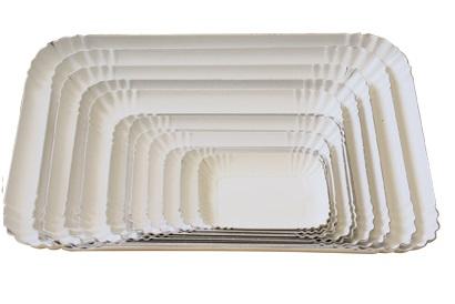 VASSOI CARTONE BIANCO - Vassoio in cartoncino uso alimentare,colore bianco varie misure.