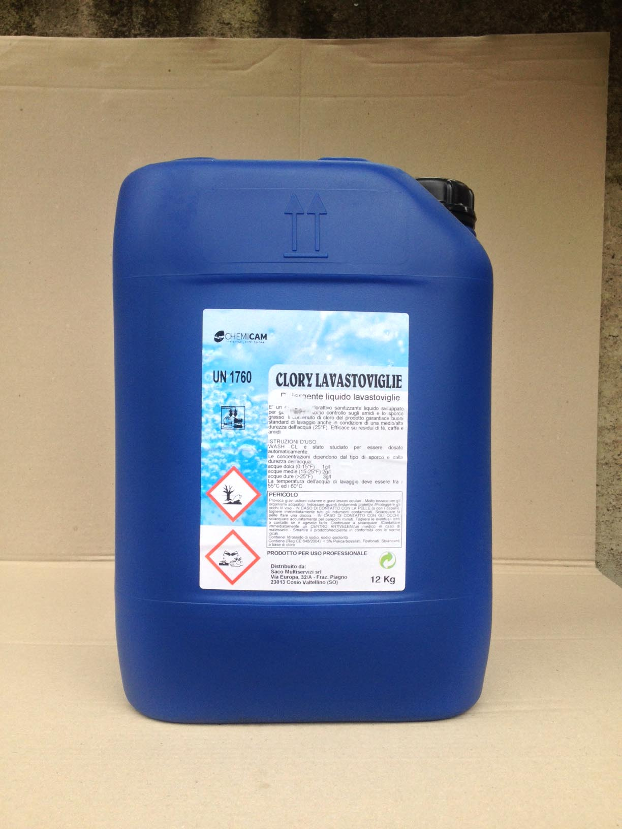 CLORY LAVASTOVIGLIE - Detergente liquido cloro attivo igienizzante e sbiancante