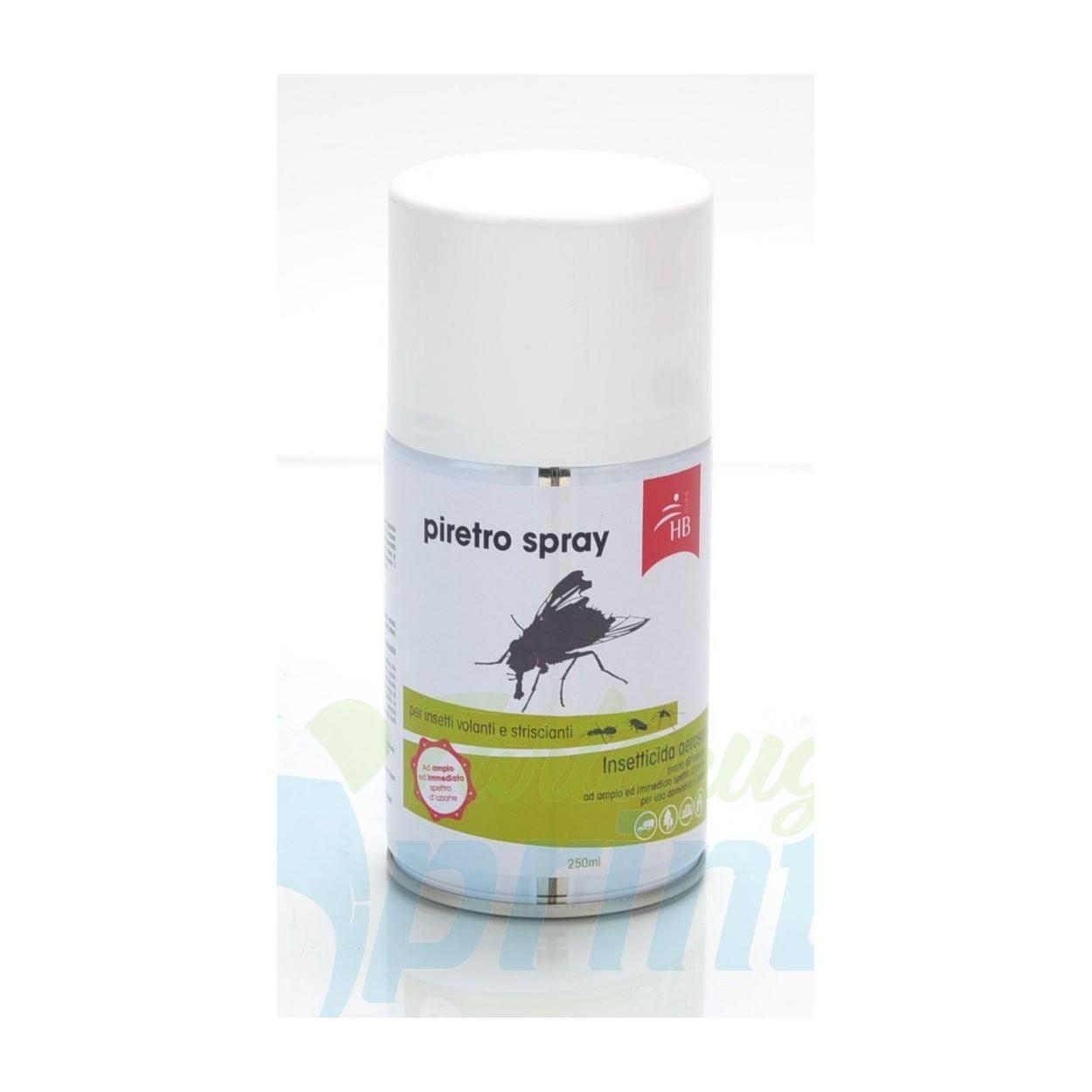 PIRETRO SPRAY 250 ML - Repellente per insetti volanti. Utilizzo sia manuale che in erogatore automatico