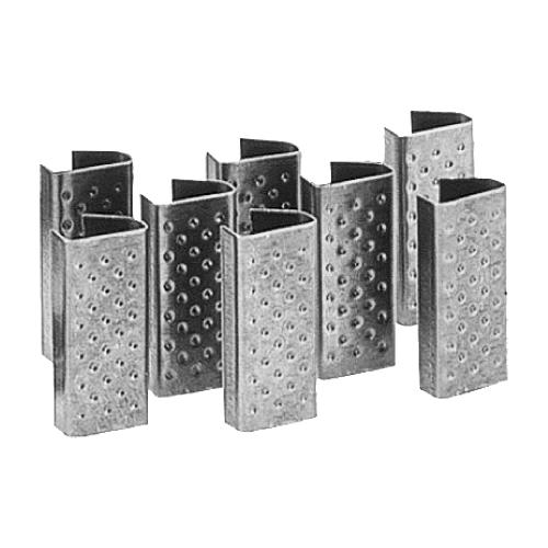 SIGILLI PER REGGIA IN PLASTICA - Sigilli zincati per reggi in plastica mis. 15x0.8 .
