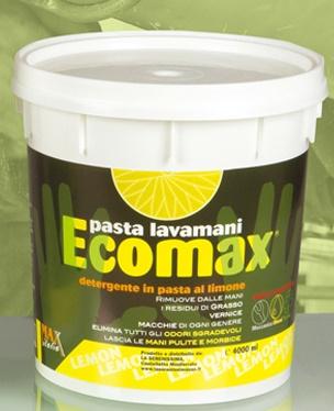 PASTA LAVAMANI ECO - Classica con essenza al limone, non irrita la pelle, no solventi e silice. Barattolo da 4 kg.